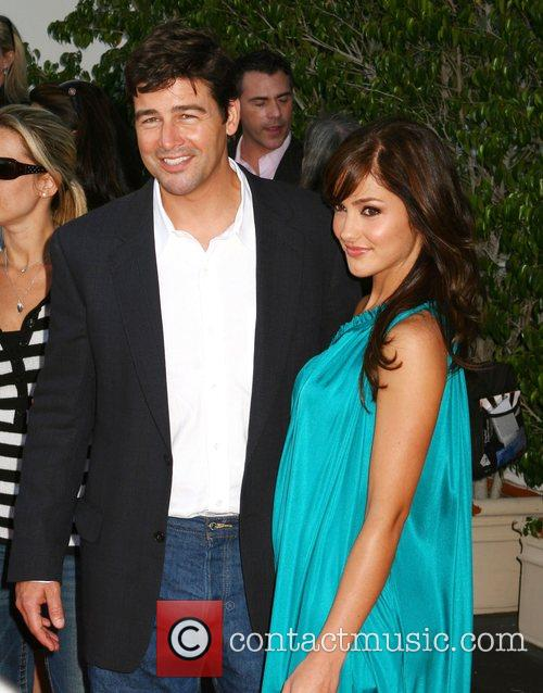 Kyle Chandler and Minka Kelly NBC All-Star party...