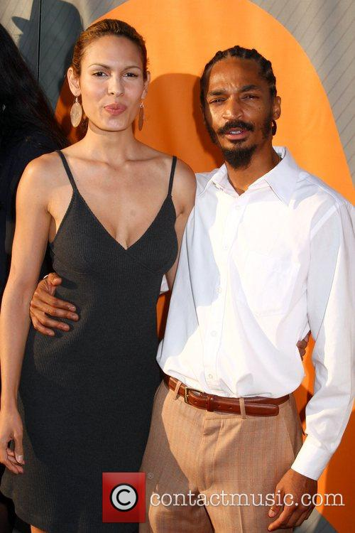 Nadine Velazquez and Eddie Steeples NBC All-Star party...