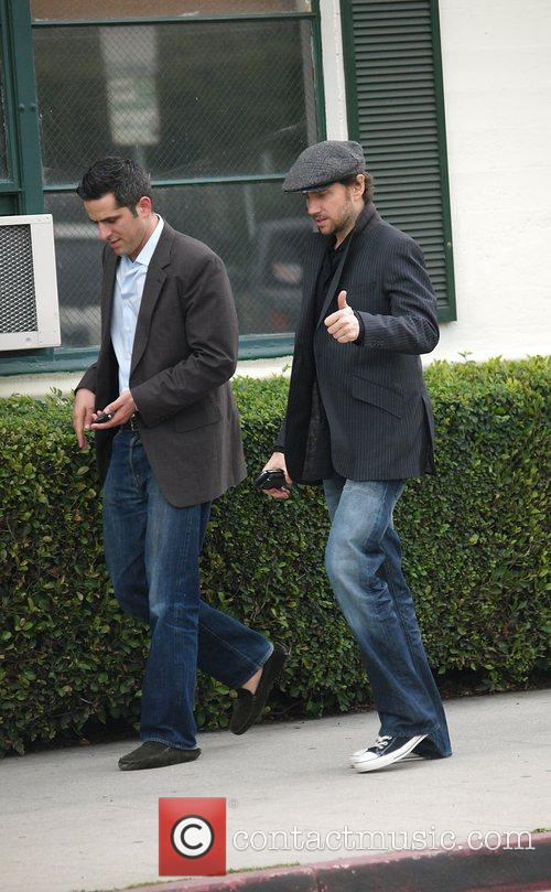 Leaving the Neil George Salon in Beverly Hills