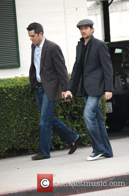 Jamie Thomas King Leaving the Neil George Salon...