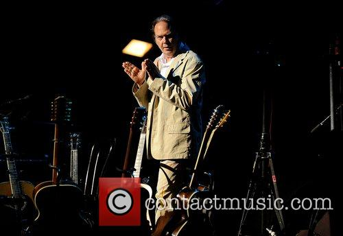Neil Young performing live in concert at the...