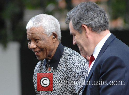 Nelson Mandela and Gordon Brown 1