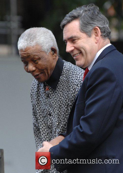 Nelson Mandela and Gordon Brown 11