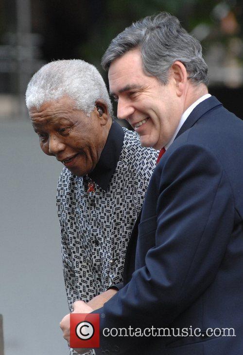 Nelson Mandela and Gordon Brown 12