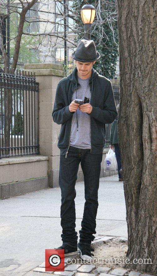 Hayden Christensen filming his new movie 'New York,...