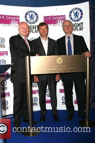 Peter Kenyon, Roman Abramovich and Bruce Buck Chelsea...
