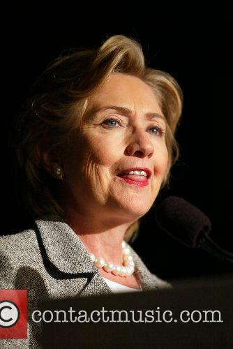 Senator Hillary Clinton addresses the Alliance for Retired...