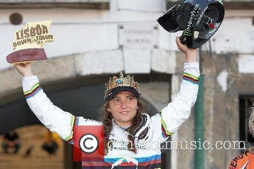 Womens winner Sabrina Jonnier 8th edition of Lisboa...