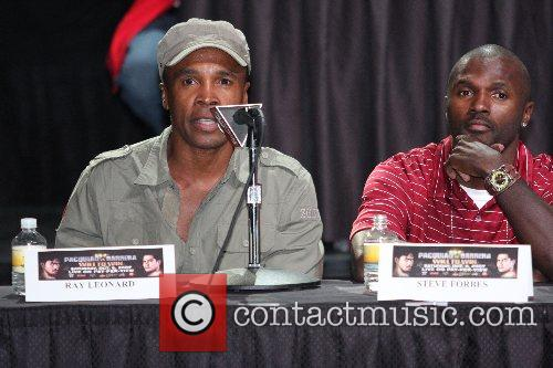 Sugar Ray Leonard and Stevie Forbes Press conferrence...