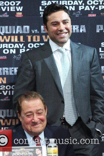 Oscar De La Hoya, Bob Arum Press conferrence...