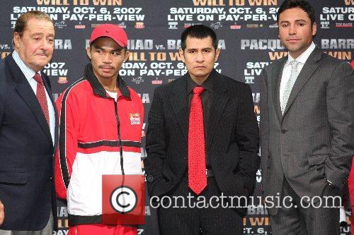 Bob Arum, Manny Pacquiao, Marco Antonio Barrera, Oscar...
