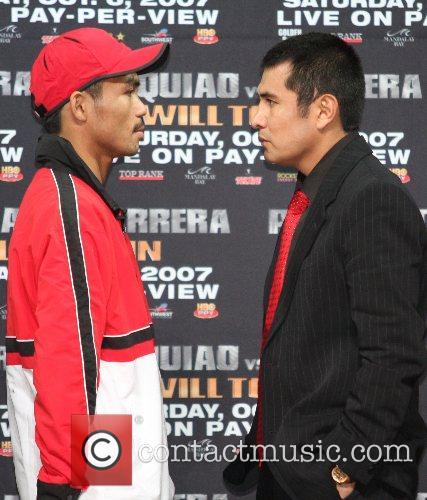 Pacquiao and Barrera Las Vegas Press conference Press...