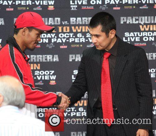 Manny Pacquiao, Marco Antonio Barrera Press conferrence for...