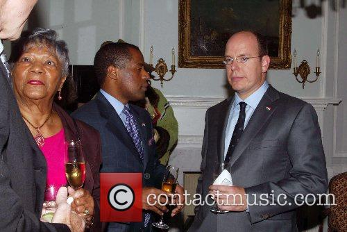 Prince Albert of Monaco and guest The Embassy...
