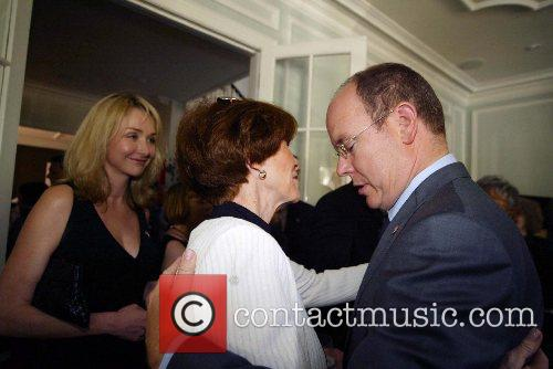 Prince Albert of Monaco and guests The Embassy...
