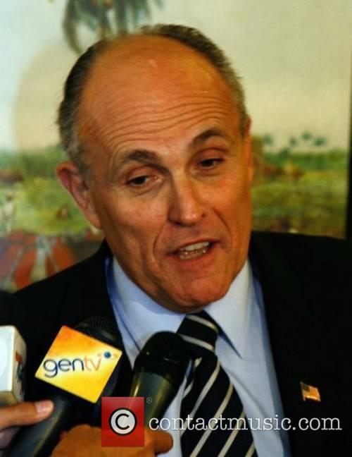 Republican presidential candidate Rudy Giuliani campaigns for votes...