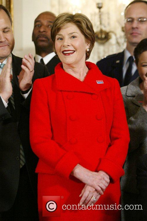 First Lady Laura Bush greets employees of AbilityOne...
