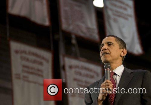Democratic presidential candidate Senator Barack Obama speaks during...