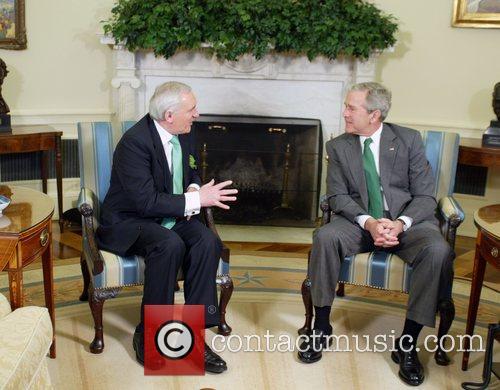 President George W. Bush welcomed Irish Prime Minister...