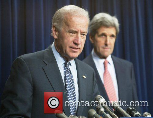 Senator Joe Biden and Senator John Kerry spoke...