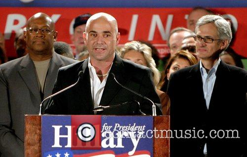 Andre Agassi, Bill Clinton and Hillary Clinton 2