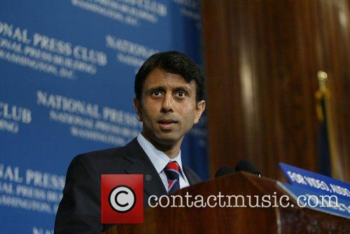 The Governor of Louisiana addressing the media. Jindal...