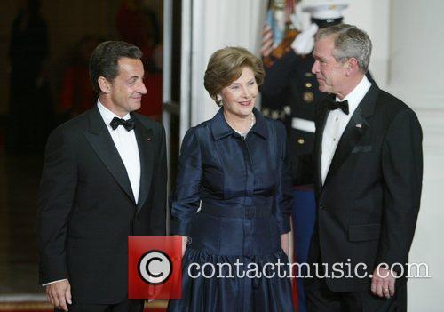 French President Nicolas Sarkozy, First Lady Laura Bush...