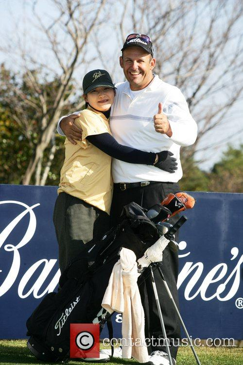 Australian Tony Carolan whilst leading the Ballantine's Championship...