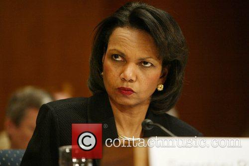 U.S. Secretary Condoleezza Rice testifies during a hearing...
