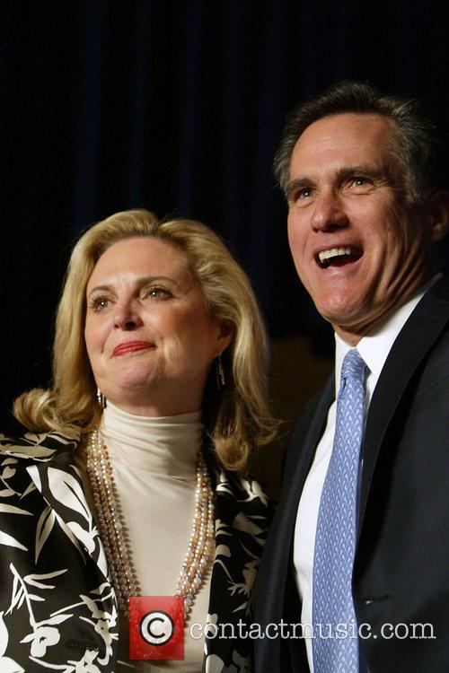 Anne Romney and Mitt Romney at the CPAC...