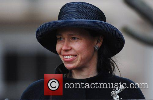 Lady Sarah Chatto leaves St. George's Chapel at...