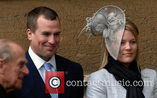 Peter Phillips, his fiancee Autumn Kelly and Prince...