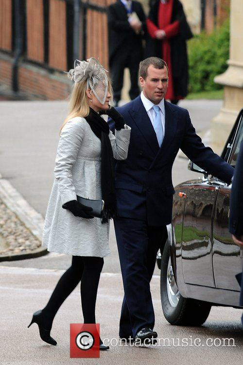 Peter Phillips and his fiancee Autumn Kelly...