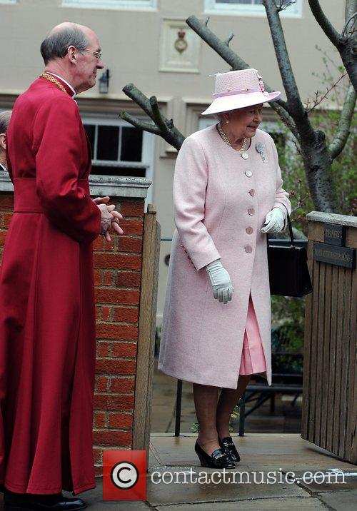 Queen Elizabeth ll leaves St. George's Chapel at...