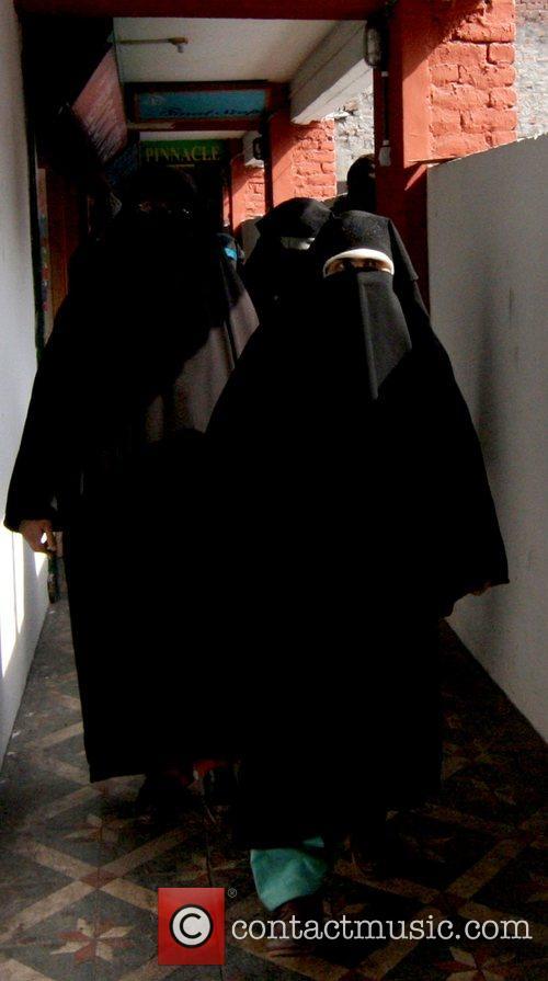 Activists of all Female Separatist Party Dukhtaran-E-Milat walk...