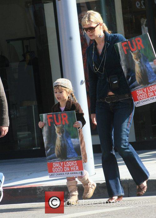 Protest the store's fur products