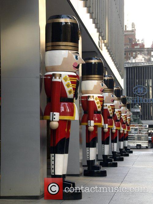 Giant toy soldiers  Holiday decorations around Manhattan...