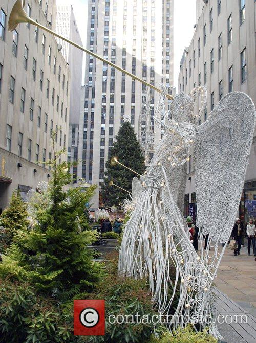 Holiday Tree at Rockefeller Center Holiday decorations around...