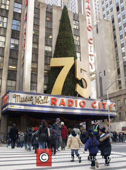 Holiday decorations around Manhattan