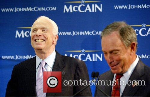 John McCain and Michael Bloomberg Republican presidential candidate...