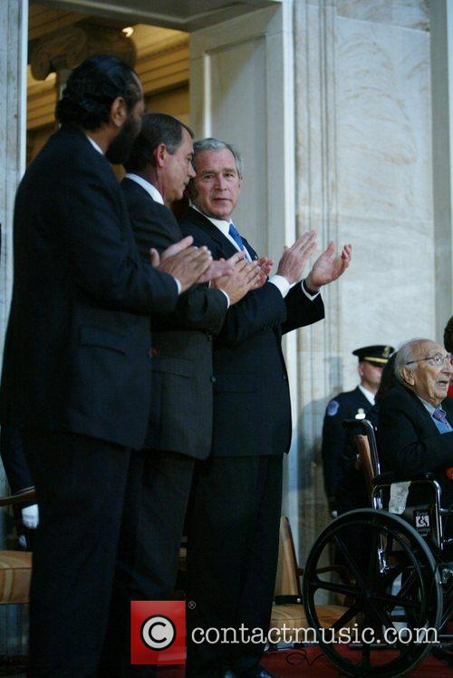 Dr. Michael E. DeBakey received the Congressional Gold...