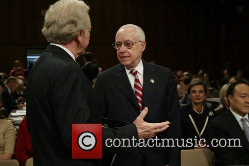 Senator Joe Lieberman and Judge Michael B Mukasey...