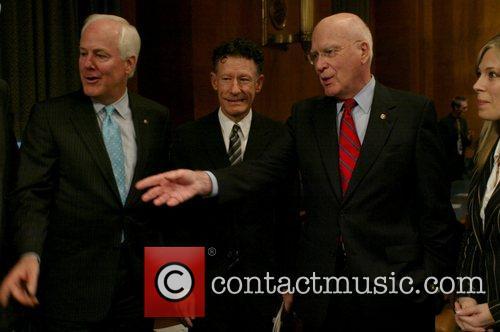 Senator Cornyn and Lyle Lovett 1
