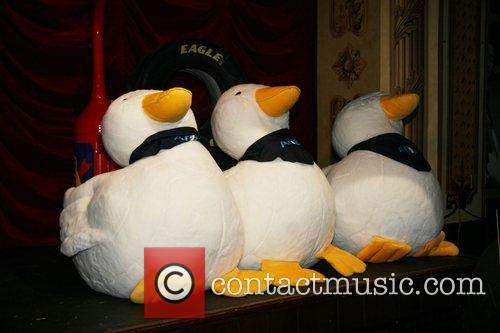Aflac toy ducks Nascar fan fest at the...