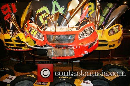 Bumpers from crashed racecars Nascar fan fest at...