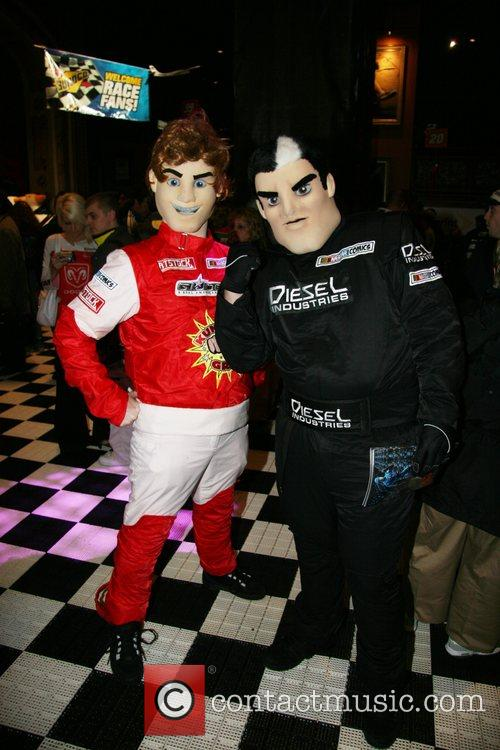Racecar driver costumes Nascar fan fest at the...