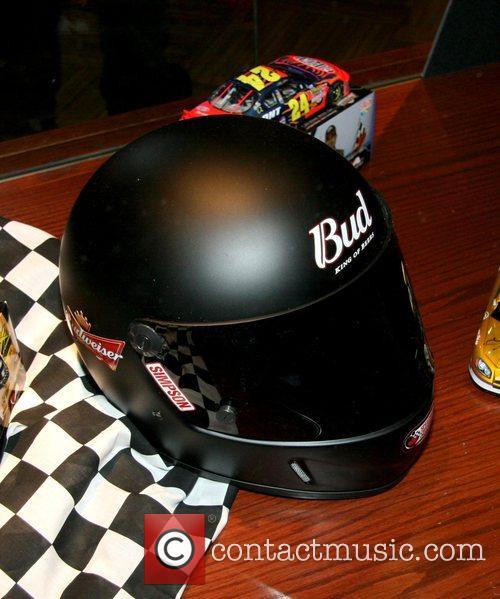 Racecar helmut Nascar fan fest at the Hard...