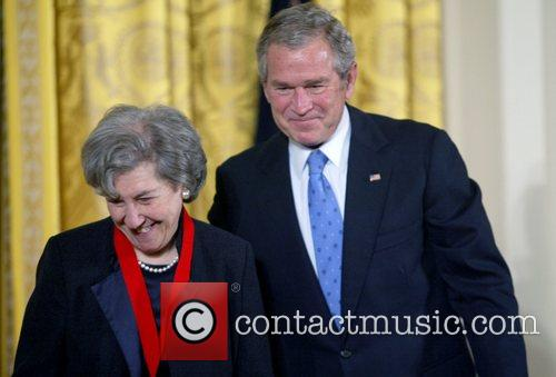 National Humanities Medal recipient, Ruth Wisse and President...