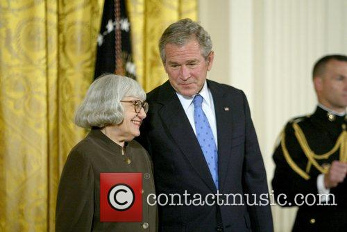National Humanities Medal recipient, Cynthia Ozick and President...