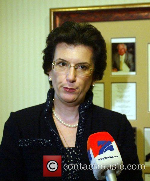 Georgian politician, Nino Burjanadze talking at the National...